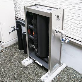 戸建ての浄水器設置例 浄水器に付属する蛇口の説明写真